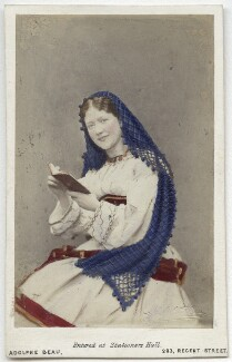 Kate Terry as Blanche de Nevers in 'The Duke's Motto', by Adolphe Paul Auguste Beau - NPG x20039
