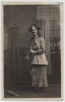 Unknown man formerly called Harry Relph, as Widow Twankey, by Unknown photographer - NPG x20046