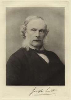 Joseph Lister, Baron Lister, by Barrauds Ltd, printed by  Walker & Boutall - NPG x20057