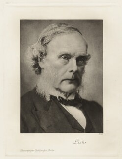 Joseph Lister, Baron Lister, by Barrauds Ltd - NPG x20058