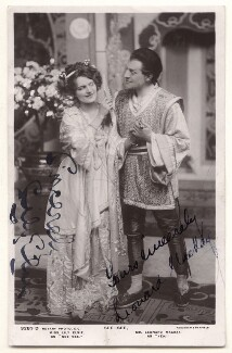 Lily Elsie (Mrs Bullough) as See-See; Leonard Mackay as Yen in See-See, by Foulsham & Banfield, published by  Rotary Photographic Co Ltd - NPG x20230