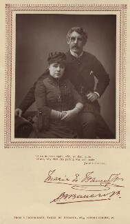 Marie Effie (née Wilton), Lady Bancroft; Sir Squire Bancroft (né Butterfield), by Herbert Rose Barraud, published by  Carson & Comerford - NPG x203