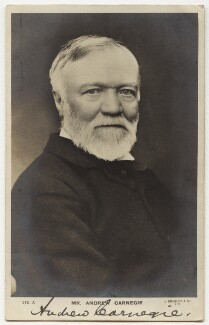 Andrew Carnegie, published by J. Beagles & Co - NPG x20499