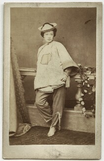 Marie Effie (née Wilton), Lady Bancroft as Aladdin in 'Aladdin', by Alfred Henry Wall, published by  Thomas Hailes Lacy - NPG x211