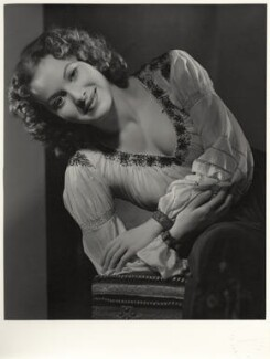 Maureen O'Hara as Esmerelda in 'The Hunchback of Notre Dame', by Ernest A. Bachrach - NPG x21660