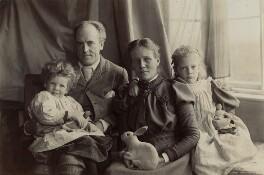 Egon Sharpe Pearson; Karl Pearson; Maria Pearson (née Sharpe); Sigrid Letitia Sharpe Pearson, by Unknown photographer - NPG x21747