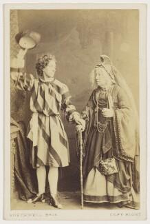 Harriet Pelham as Prince Lollius; Clara Selby (Sarah Susannah Selby) as Rumpelstiltskin's grandmother in 'Rumpelstiltskin', by Southwell Brothers - NPG x21755