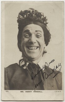Harry Randall as 'Widow Twankey' in Aladdin, published by J. Beagles & Co - NPG x21988