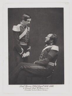Richard de Aquila Grosvenor, 1st Baron Stalbridge; George Pitt-Rivers, 4th Baron Rivers, by Unknown photographer - NPG x22040