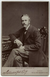 Arthur James Balfour, 1st Earl of Balfour, by London Stereoscopic & Photographic Company, 1870s-1900s - NPG x22246 - © National Portrait Gallery, London