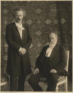Ignace Jan Paderewski; Camille Saint-Saëns, by De Jongh - NPG x22279