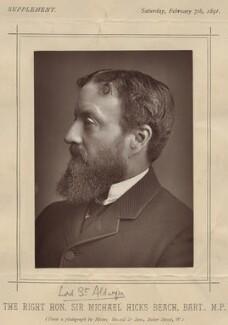Michael Edward Hicks Beach, 1st Earl St Aldwyn, by James Russell & Sons - NPG x22325