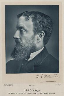 Michael Edward Hicks Beach, 1st Earl St Aldwyn, by James Russell & Sons - NPG x22326