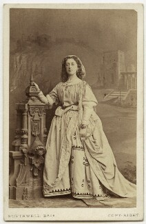Emma Barnett as Lesbia in 'The Comedy of Errors', by Southwell Brothers, 1864 - NPG  - © National Portrait Gallery, London