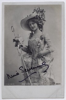 Nina Sevening as Miss Powerscourt in 'A Country Girl', by or published by Charles William Faulkner & Co ('C.W.F. & Co') - NPG x22511