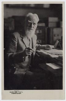 George Bernard Shaw, by Olive Edis - NPG x22526