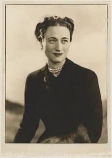 Wallis, Duchess of Windsor, by Dorothy Wilding - NPG x34898