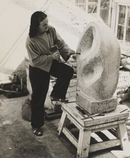 Barbara Hepworth, by Peter Keen, mid 1950s - NPG x36003 - © estate of Peter Keen / National Portrait Gallery, London