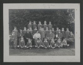 School photograph including John Bicknell Auden; John Lea Nevinson and W.H. Auden, by Elliott & Fry - NPG x25119