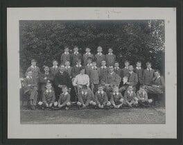 School photograph including John Bicknell Auden; John Lea Nevinson and W.H. Auden, by Elliott & Fry - NPG x25119