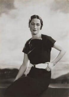 Wallis, Duchess of Windsor, by Dorothy Wilding - NPG x25934