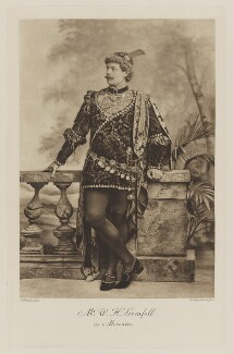 William Henry Grenfell, Baron Desborough as Mercutio, by Lafayette, photogravure by  Walker & Boutall, 1897; published 1899 - NPG  - © National Portrait Gallery, London