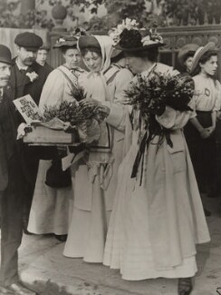 Dame Christabel Pankhurst; Emmeline Pethick-Lawrence, by Unknown photographer - NPG x26019