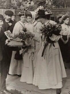 Dame Christabel Pankhurst; Emmeline Pethick-Lawrence, by Unknown photographer - NPG x26019