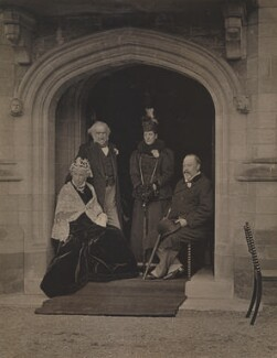 Catherine Gladstone (née Glynne); William Ewart Gladstone; Queen Alexandra; King Edward VII, by George Watmough Webster & Son - NPG x26082