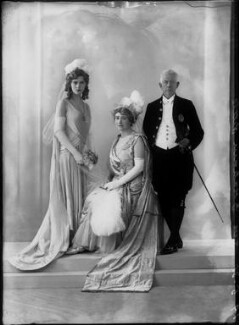 Sarah Helen (née Kendall), Lady Graham-Little; Sir Ernest Gordon Graham Graham-Little; possibly Helen Viola Graham-Little, by Bassano Ltd - NPG x26604