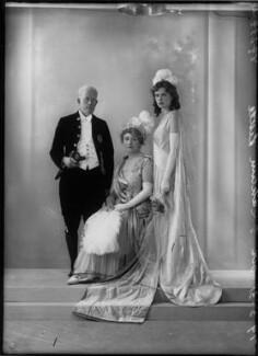 Sir Ernest Gordon Graham Graham-Little; Sarah Helen (née Kendall), Lady Graham-Little; possibly Helen Viola Graham-Little, by Bassano Ltd - NPG x26605