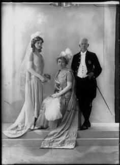Sarah Helen (née Kendall), Lady Graham-Little; Sir Ernest Gordon Graham Graham-Little; possibly Helen Viola Graham-Little, by Bassano Ltd - NPG x26606