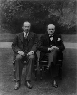 John Anderson, 1st Viscount Waverley; Winston Churchill, copy by Bassano Ltd - NPG x27016