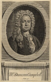 Duncan Campbell, by Michael Vandergucht, after  Thomas Hill, published 1720 - NPG  - © National Portrait Gallery, London