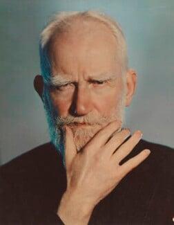 George Bernard Shaw, by Madame Yevonde, 1937 - NPG P871(5) - © Yevonde Portrait Archive