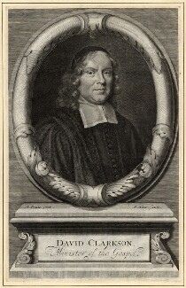 David Clarkson, by Robert White, after  Mary Beale - NPG D10596