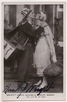 Huntley Wright; Winnie Collins in 'The Lady of the Rose', by Stage Photo Company - NPG x27547