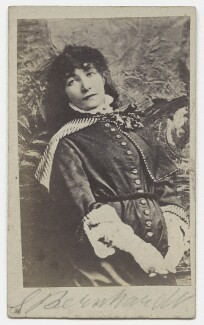 Sarah Bernhardt, after Napoleon Sarony - NPG x27585
