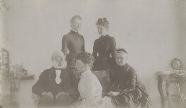 Francis Cranmer Penrose; Dame Emily Penrose;Alice Penrose; Mary Penrose; Harriette Penrose (née Gibbes), by Unknown photographer - NPG x27601
