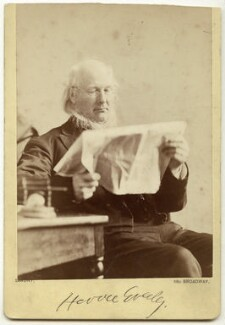 Horace Greeley, by Napoleon Sarony - NPG x27748