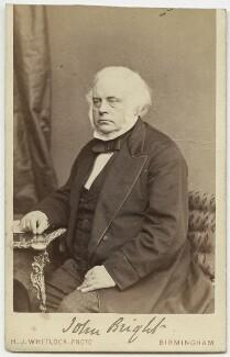 John Bright, by Henry Joseph Whitlock - NPG x27756