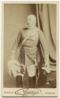 Prince George William Frederick Charles, 2nd Duke of Cambridge, by Maull & Co, late 1860s-early 1870s - NPG x27758 - © National Portrait Gallery, London