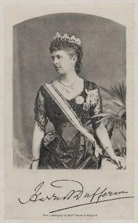 Hariot Georgina (née Rowan-Hamilton), Marchioness of Dufferin and Ava, by Bourne & Shepherd - NPG x28112