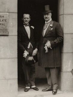 William Humble Ward, 2nd Earl of Dudley with his best man Dudley Gillroy, by Graphic Photo Union - NPG x28119