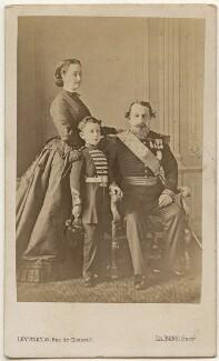 Eugénie, Empress of France ('Eugénie de Montijo'); Napoléon, Prince Imperial; Napoléon III, Emperor of France, by Augustin Aimé Joseph Le Jeune - NPG x28180
