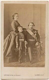 Eugénie, Empress of France; Napoléon, Prince Imperial; Napoléon III, Emperor of France, by Augustin Aimé Joseph Le Jeune - NPG x28180