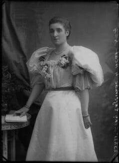 Frances (née Foley), Lady Edgcumbe, by Alexander Bassano, 1895 - NPG x28230 - © National Portrait Gallery, London
