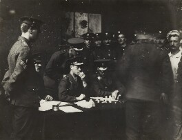 Prince Edward, Duke of Windsor (King Edward VIII) acting as pay-master to the Grenadier Guards, by Mrs Albert Broom (Christina Livingston) - NPG x28398