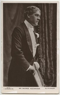 Sir George Alexander (George Samson), by Alfred Ellis & Walery, published by  J. Beagles & Co - NPG x286
