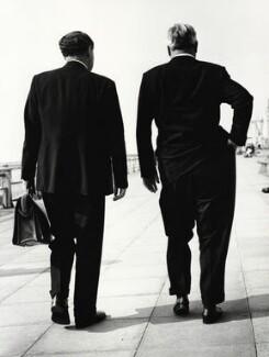 Hugh Todd Naylor Gaitskell; Aneurin Bevan, by Jane Bown, 1957 - NPG x28619 - © Jane Bown